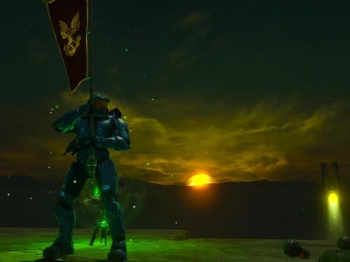 AddiCt3d-2CHa0s_Halo-3_Sand-Forge_Sunset-Flag-Screenshot