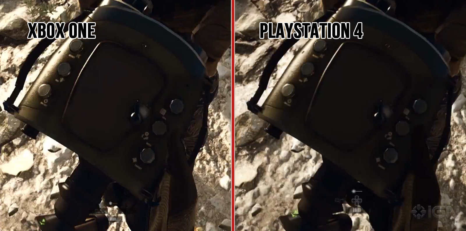 Xbox One Vs Ps4 Graphics Side By Side Xbox One & PS4 Sid...