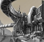 Longbow concept art by Brad Jeansonne, Mass Driver Control Station