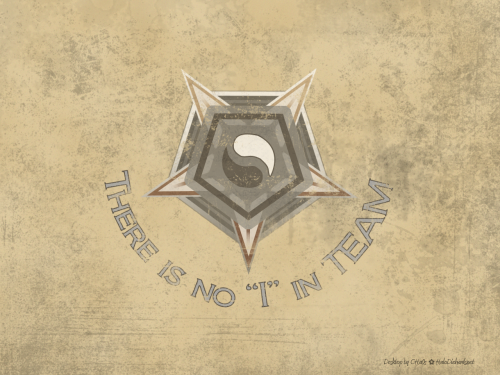 "'There is no ""I"" in TEAM' Wingman medal Desktop Wallpaper by AddiCt3d 2CHa0s"