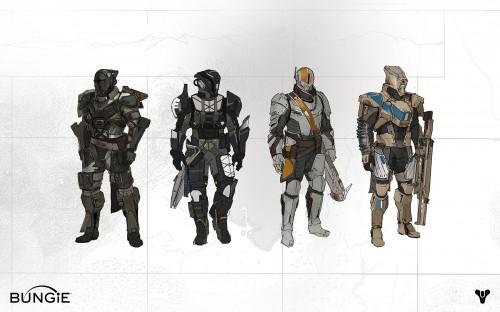 Official Bungie concept art for Destiny's Titan Class