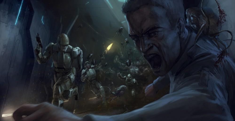 Halo:CE Anniversary concept art - Flood Outbreak
