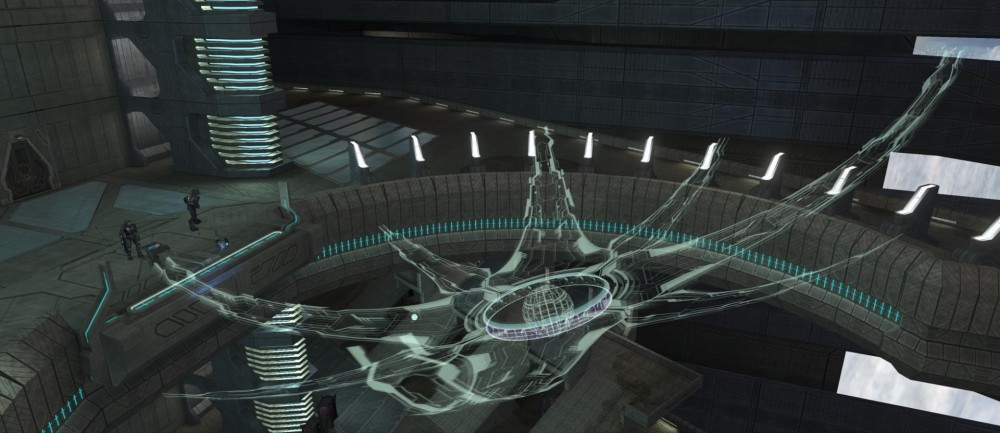 Installation 00, Ark as seen by Master Chief in the Library in Halo: CE Anniversary