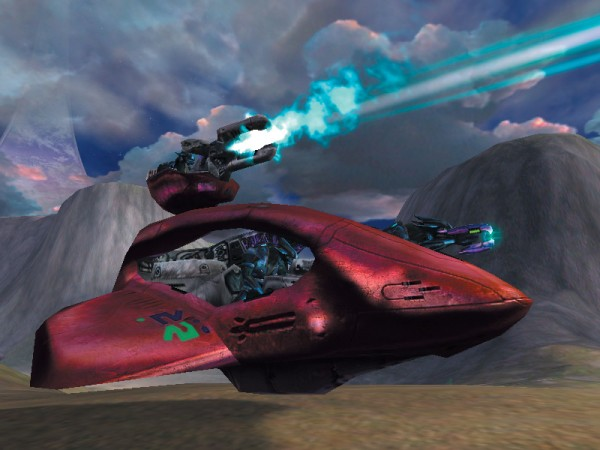 Covenant piloting a Spectre in Halo 2