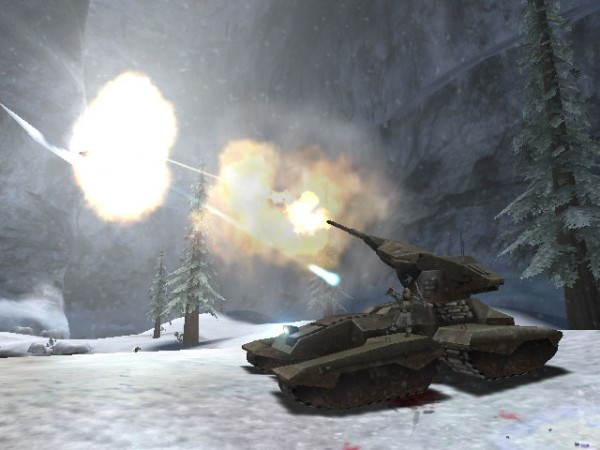 Scorpion tank in Halo: CE campaign